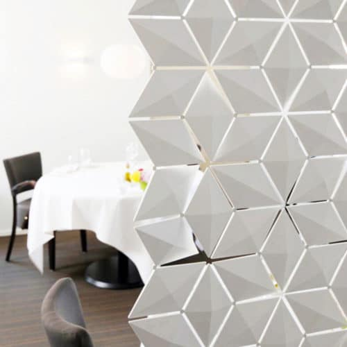 Decorative room divider screens.