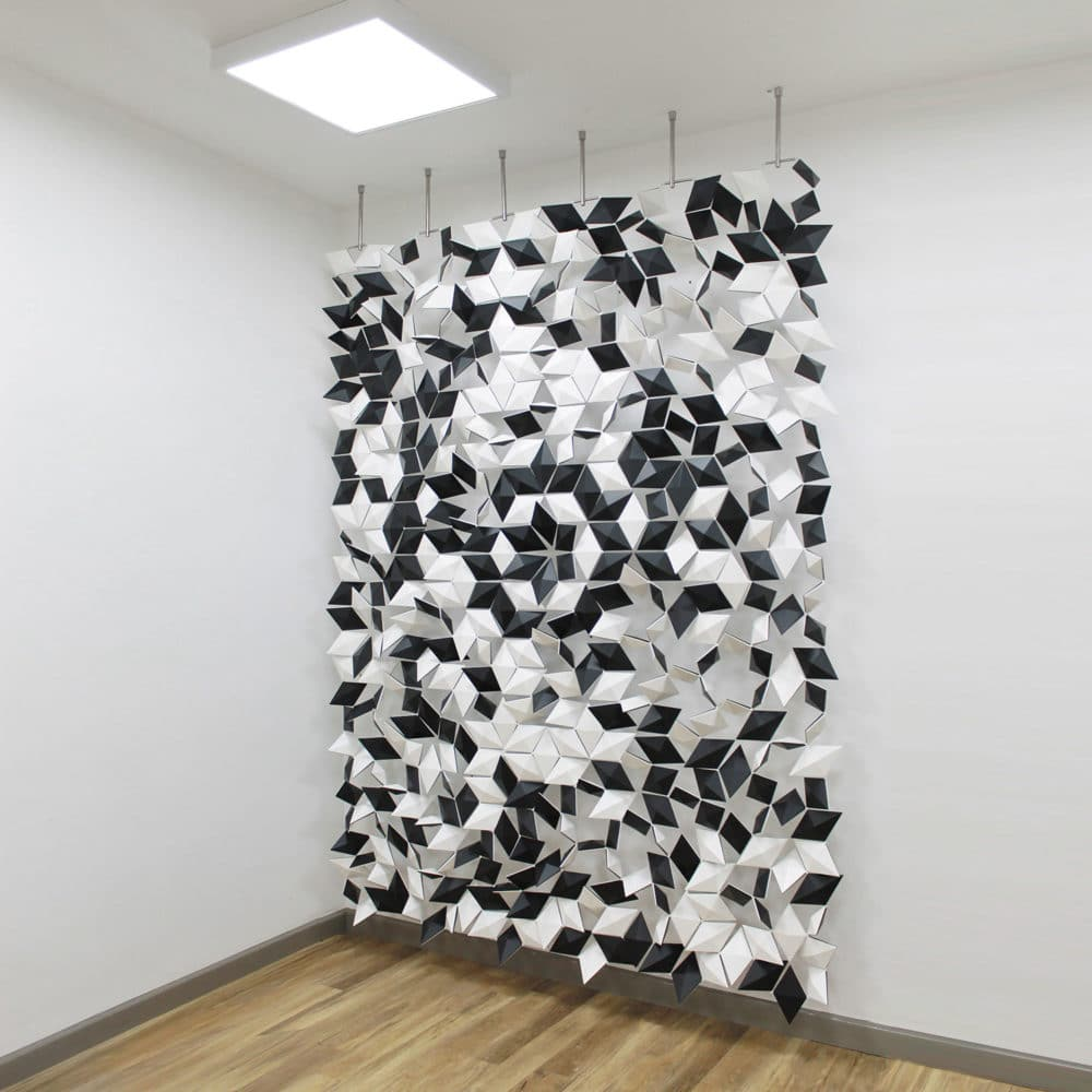 Modular room divider system which fits everywhere