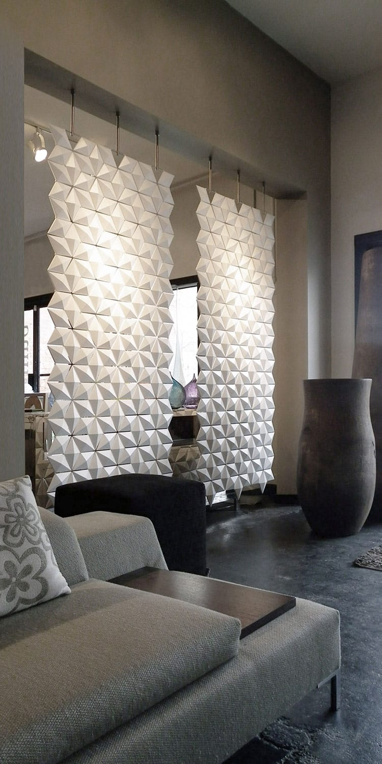 Hanging Room Dividers Room Divider: Two Room Dividers Combined: Twice As Nice • Ideas Showcase