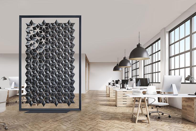 Interior Room Divider Freestanding Room Divider Facet Graphite 170x258cm 821x550px
