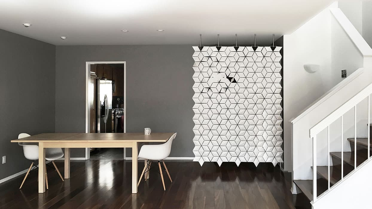 Hanging room divider Facet is the perfect entrance privacy screen