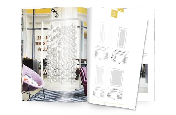 Freestanding room divider Facet brochure and price list