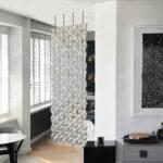 Séparateur d'appartement Facet de couleur Gris perle et largeur 136cm x hauteur 246cm