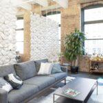Séparateur d'espace pour plafonds hauts Facet de couleur Blanc et largeur 170cm x hauteur 187cm