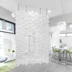 Divisorio per spazi commerciali Facet colore Bianco e larghezza 170 cm x altezza 265 cm