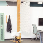 Inspiring office space divider Facet in width 204cm x height 187cm and color White