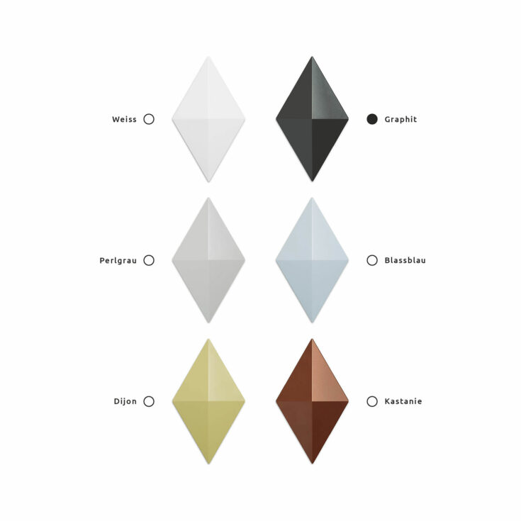 Raumteiler Facet Farbe Graphit