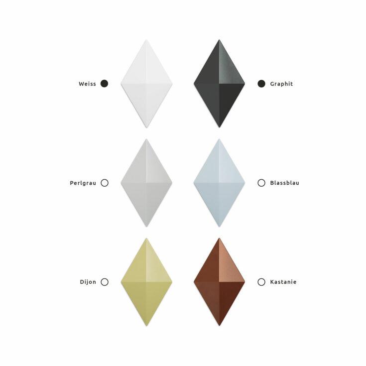 Raumteiler Facet Farbe Graphit un Weiss