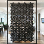 Hanging room divider Facet in width 170cm x height 258cm with sliding solution