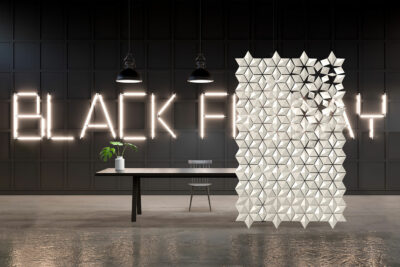 Black Friday Room Divider Facet