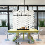 Separador de sala de comedor Facet de 204 x 226 cm en Blanco