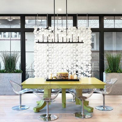 Divisorio per la sala da pranzo Facet 204 x 226 cm in Bianco