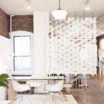 Raumteilerfür offene Einrichtung Facet 170 x 246 cm in Weiß